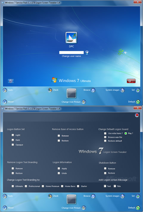 Windows 7 Logon Screen Tweaker Orbit30
