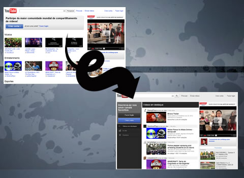 Novo layout do Youtube