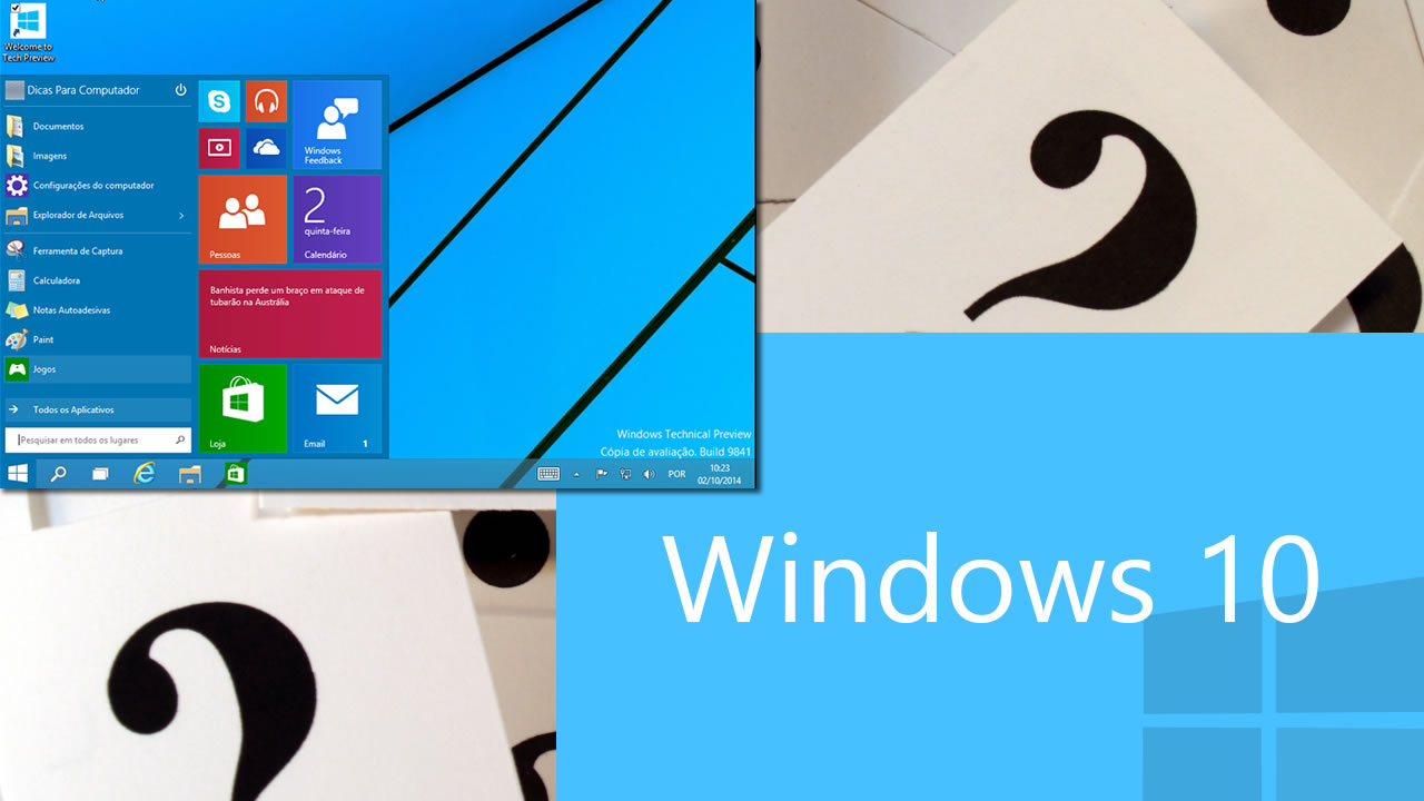 duvidas Windows 10