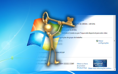 Como alterar a serial do Windows 7